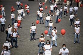(تصاویر) تظاهرات کادر بهداشتی در رم ایتالیا