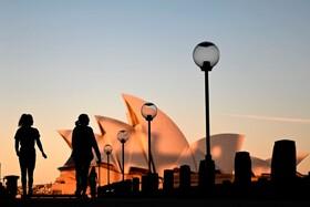 (تصاویر) غروب آفتاب در سیدنی استرالیا