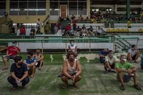 (تصاویر) دستگیرشدگان در فلیپین به دلیل استفاده نکردن از ماسک