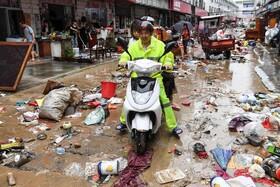 (تصاویر) خرابی های ناشی از سیل در هانگشان در چین