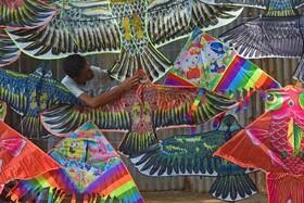 (تصاویر) فروش بادبادک در داکای بنگلادش