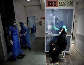 (تصاویر) محل آزمایش کرونا در دهلی هند