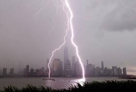 (تصاویر) رعد و برق در نیویورک