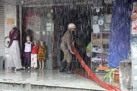 (تصاویر)آتش سوزی در بازاری در جامو مرکز کشمیر هند