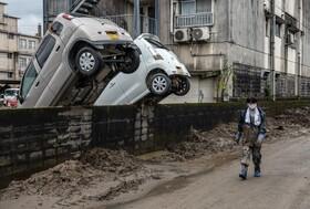 (تصاویر)بخشی از خسارت های سیل در ژاپن