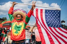 (تصاویر)تظاهرات در آمریکا برای اعتراض به کشته شدن  یک موزیسین در اتیوپی