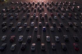 (تصاویر)صف ماشین ها در آمریکا برای دیدن جشن استقلال آمریکا