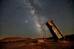 (تصاویر) راه شیری در آسمان نوادای آمریکا