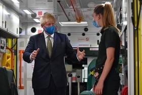 (تصاویر) دیدار بوریس جانسون از مرکز خدمات فوری در لندن