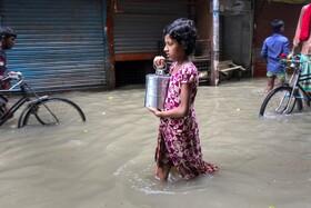 (تصاویر) سیل در بنگلادش