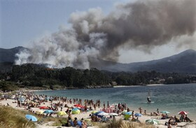 (تصاویر) آتش سوزی در مناطق جنگلی در اسپانیا