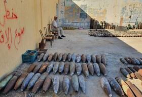 (تصاویر) انبار سلاح های بازیافتی در تریپولی لیبی