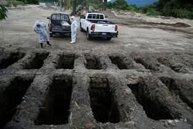 (تصاویر) قبرستان بیماران کرونایی در السالوادور