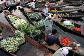 بازار سبزیجات در سرینگر هند