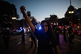 تظاهرات برای حقوق سیاهان و علیه خشونت پلیس در لوس آنجلس آمریکا
