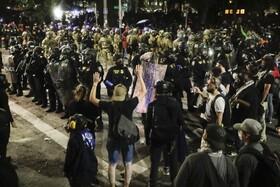 تظاهرات در پرتلند آمریکا