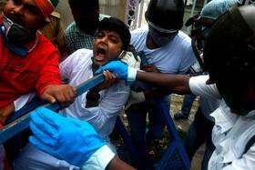 تظاهرات ضد دولتی احزاب مخالف در کلکته هند