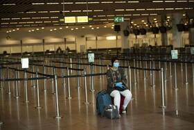 فرودگاه بروکسل در بلژیک که خالی از جمعیت اس