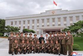 کیم جونگ اون رهبر کره شمالی در مراسم سالگرد پایان جنگ کره