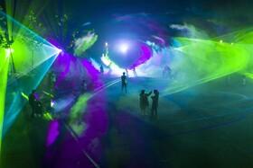 نمایش نور های لیزری در شاندونگ در چین