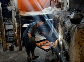 نانوایی در کابل افغانستان