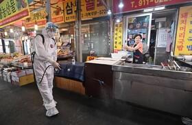 پاکسازی بازاری در سئول کره جنوبی