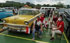 کنسرت موسیقی در بالی اندونزی پس از چند ماه قرنطینه در فضای باز