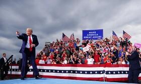 ترامپ در مراسم انتخاباتی در کارولینای آمریکا
