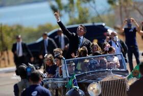 خاویربولسونارو رئیس جمهوری برزیل در مراسم روز ملی این کشور در برازیلیا