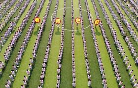 مراسم بازگشایی مدارس در چین