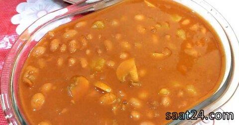 طرز تهیه خوراک قارچ و لوبیا چیتی