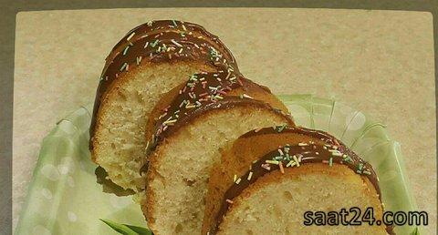 طرز تهیه کیک شیر موز و گلاب